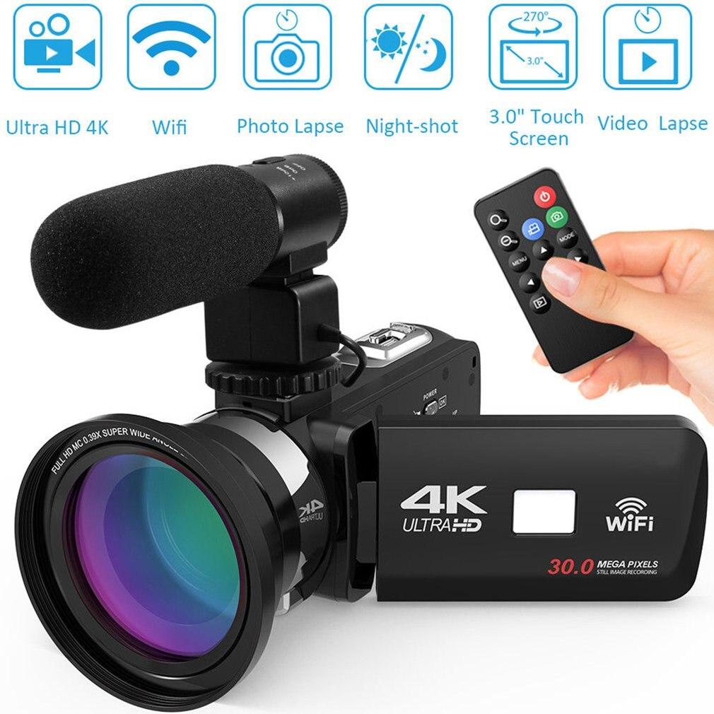 HDV4K HD digital camera night vision 30MP DV WIFI touch screen infrared fill light Camcorder Recorder Innrech Market.com