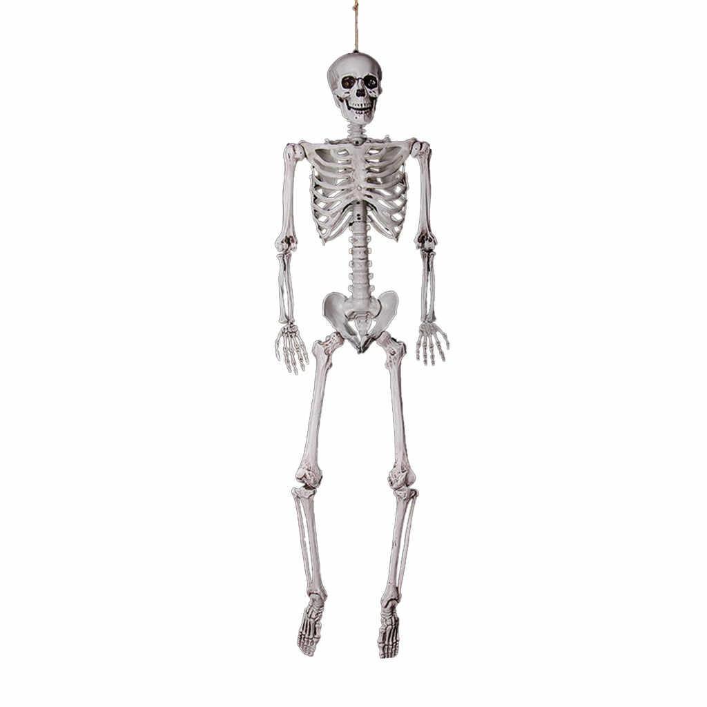 Halloween Prop Kerangka Penuh Ukuran Kerangka Tengkorak Tangan Manusia Hidup Tubuh Manusia Poseable Anatomi Model Pesta Festival Dekorasi Plastik