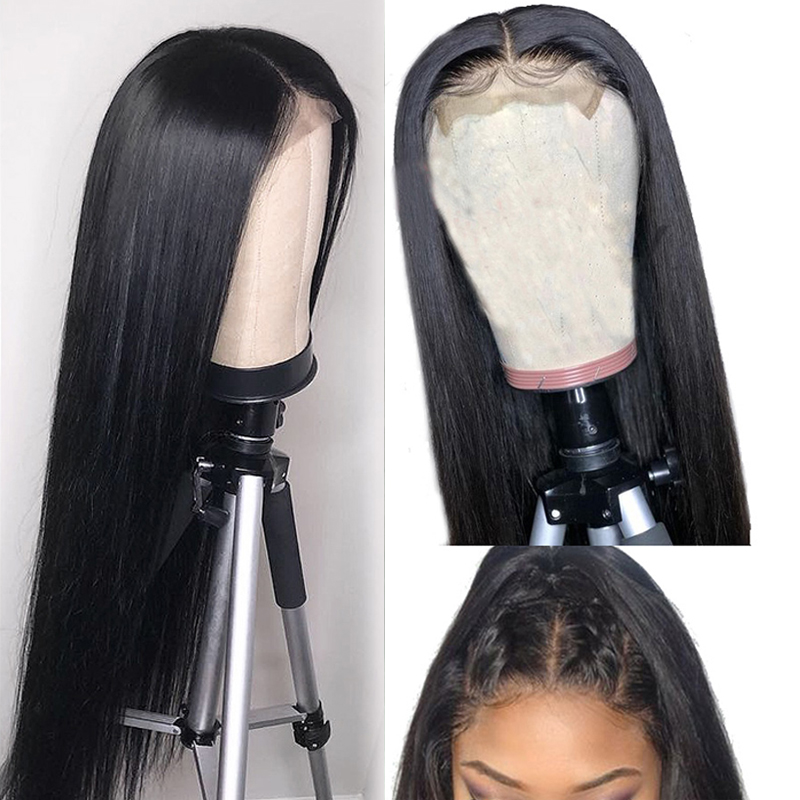 Lace Front Human Hair Wigs 4x4 Lace Closure Wigs Brazilian Remy Hair Wigs Straight Lace Front