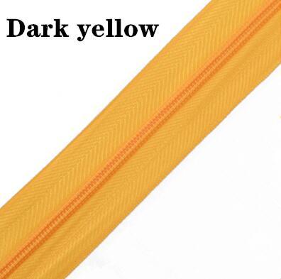 5 м длинная молния нейлон 3# пододеяльник подушка одеяло невидимая молния двойная молния черный и белый - Цвет: DYELLOW