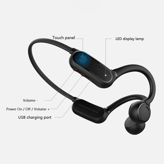5.0 Sports Bone Conduction Headphone Waterproof Running Earphone Cycling Headset Wireless Stereo Headset 4
