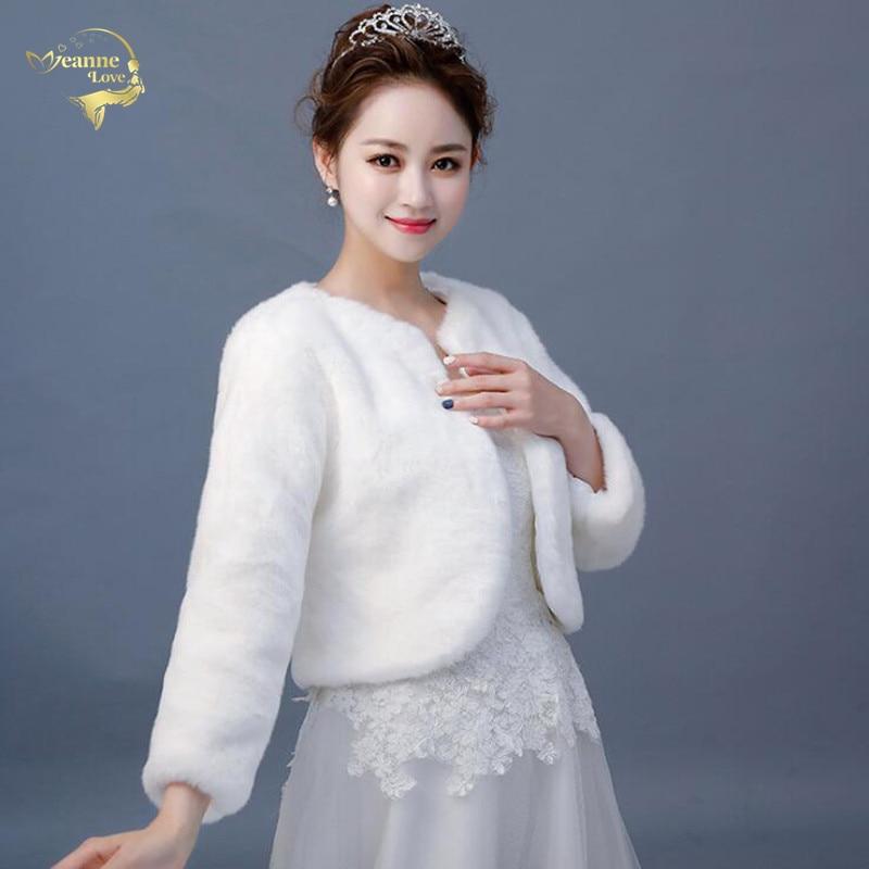 Bolero Femme Mariage Hot Sale New Arrival Fur Wedding Cape Faux Fur Wrap Winter Stoles Cloak Warm Bridal Jackets Coats Bride Top