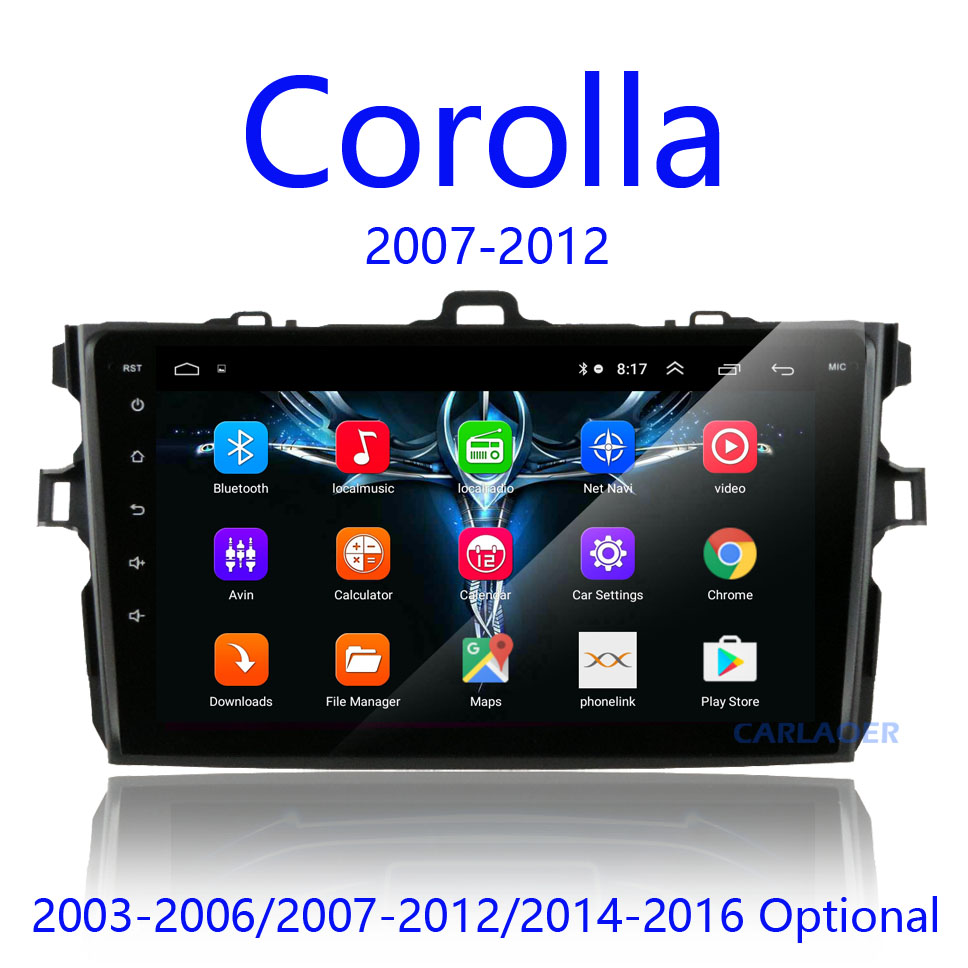 2Din android 8.1 Car Radio Multimedia Player For Toyota Corolla E140/150 2007 2008 2009 2010 2011 2012 2013 2014 2015 2016 2 din(China)