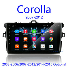 Radio Multimedia con GPS para coche, Radio con reproductor, android 8,1, 2 din, para Toyota Corolla E140/150 2007 2008 2009 2010 2011 2012 2013 2014 2015 2016