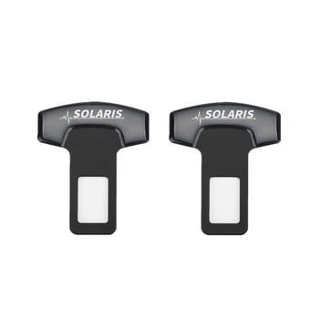 Dla hyundai solaris 2017 2018 akcesoria Car Styling klamry do paska samochodu fotelik samochodowy Safty Belt Alarm Canceler korek 2 sztuk tanie i dobre opinie Z tworzywa sztucznego