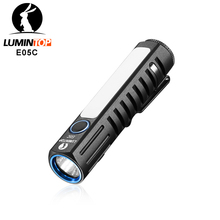 Lumintop e05c usb tipo 14500 lanterna xpl oi principal led nichia lado luz impulso circuito ui prático mini lanterna edc