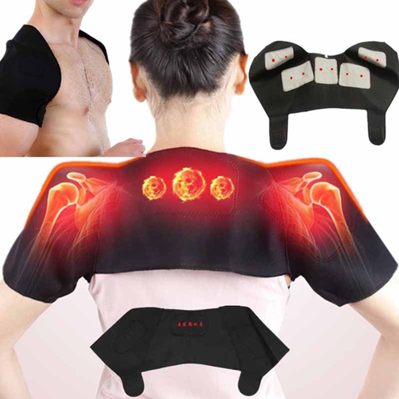 1piece Self-Heating Tourmaline Shoulder Magnetic Therapy Support Shoulder Belt Relieve Shoulder Neck Pain Massager Pain Relief