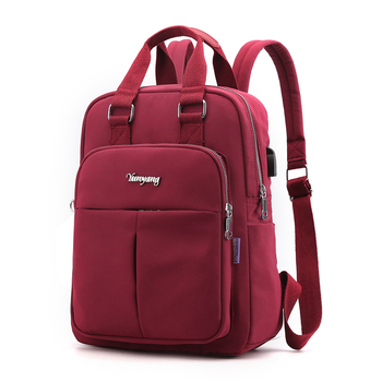 High Quality  Solid Ladies Backpacks Large Capacity Multi-pocket Women Backpack Fashion Brand School Bag For Teeanger Girls 2020