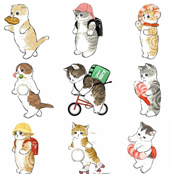 50pcs/lot Mobile Phone Holder Stand Cute Cat Kitty Finger Ring Smartphone Stand Holder For iPhone Acrylic All Smart Phone