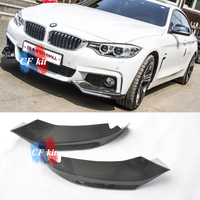 CF Kit Real Carbon Fiber For BMW F32 Front Lip Can Splitter Flaps M Sport Coupe & Convertible 2 Door 2014 2016 Car Styling