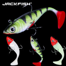 Lead Baits Wobblers-Rubber Fishing Lures Jig Artificial-Bait T-Tail Single-Hook JACKFISH