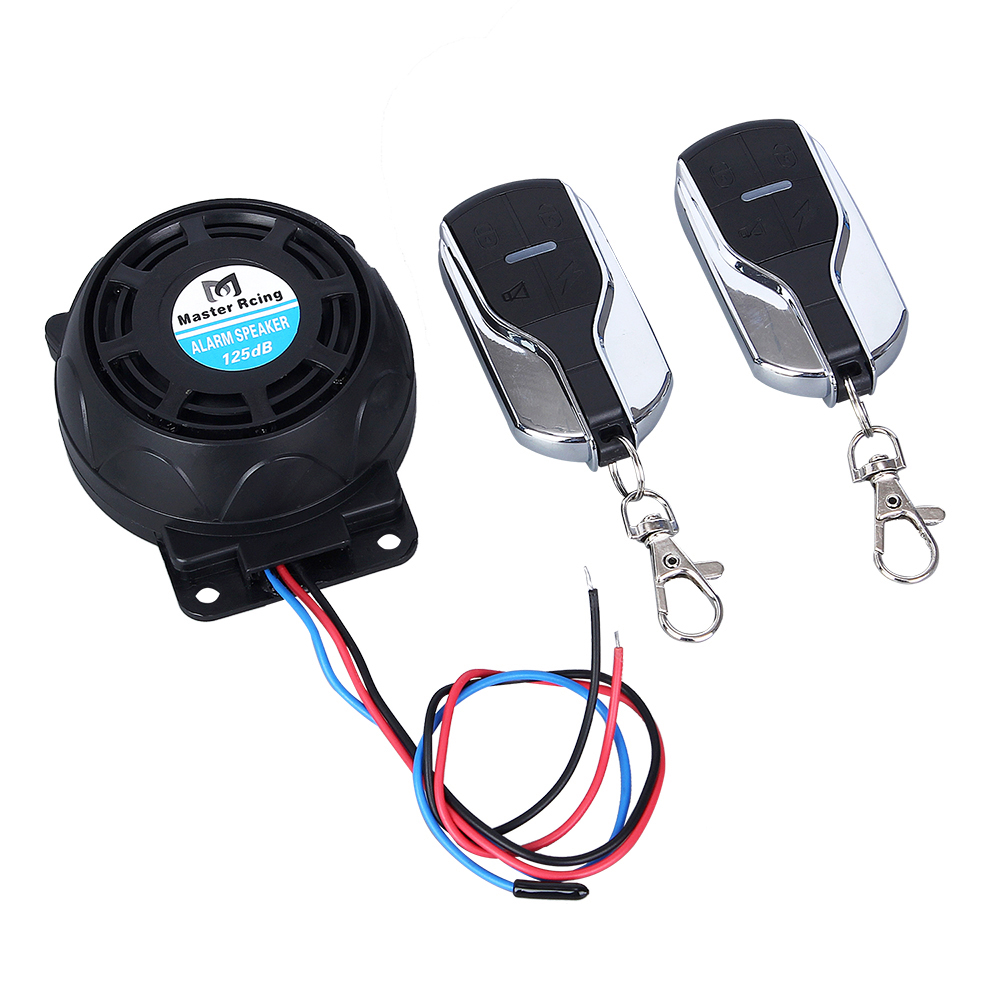 125dB Motorcycle Anti-Theft Security Burglar Alarm Remote Control Protection Moto Alarm With Switch System Alarm Speaker