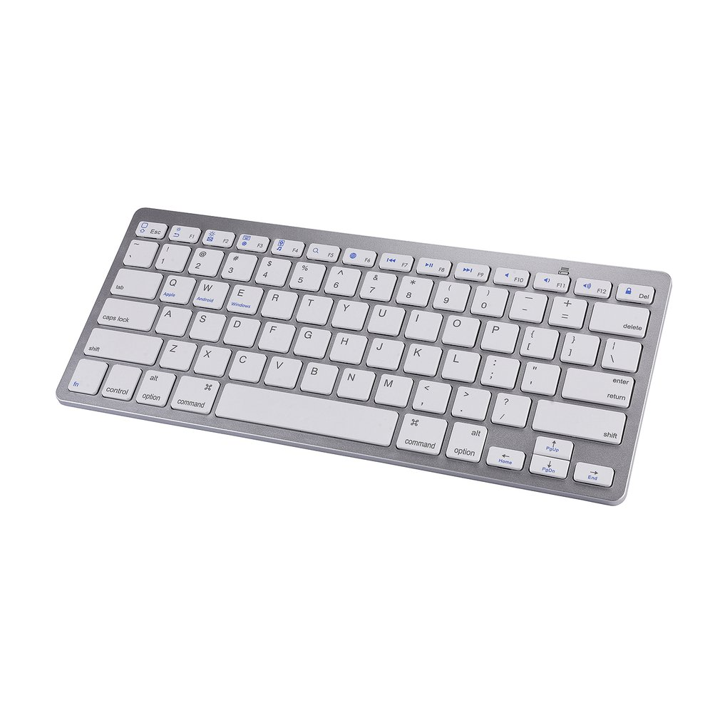 Wireless Keyboard For Apple For iPad iPhone For Android For Mac Windows Ultra Slim Universal Wireless Keyboard image