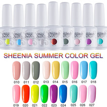 Sheenia Gel Polish Hybrid Vernissen Nail Manicure Uv Led Gel Semi Permanente Nagels Soak Off Gel Lak Base Top Coat 15Ml Kleur