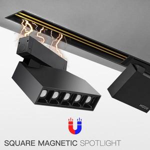 Image 1 - SCON imán serie 7W DC24V 90 °, ajustable, 350 grados, giratorio, cuadrado, foco de pista magnético fuerte