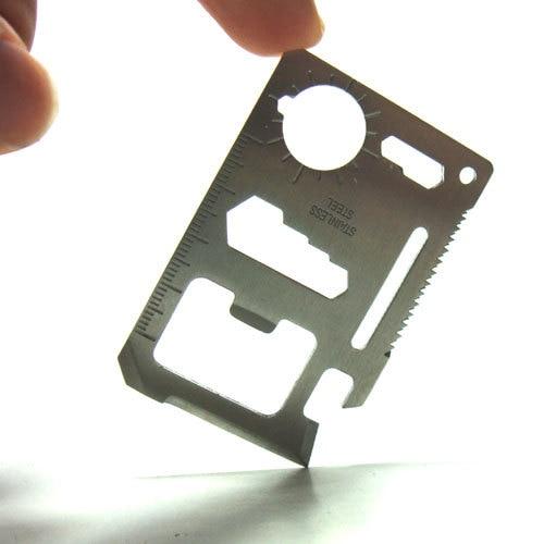 Multi-functional Card Tool Knife Mini Portable Carry Small Tool Metallic Card Type Tool Wholesale