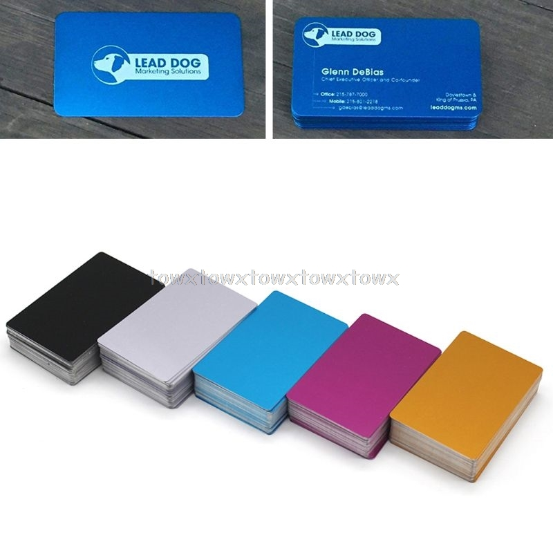 100Pcs Blank Engraved Custom Visiting Name Cards Aluminium Alloy Business Cards D10 19 Dropship