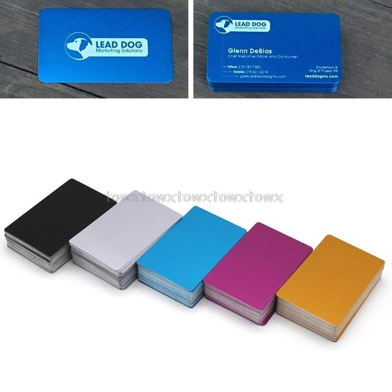 100Pcs Blank Engraved Custom Visiting Name Cards Aluminium Alloy Business Cards D10 19 Dropship