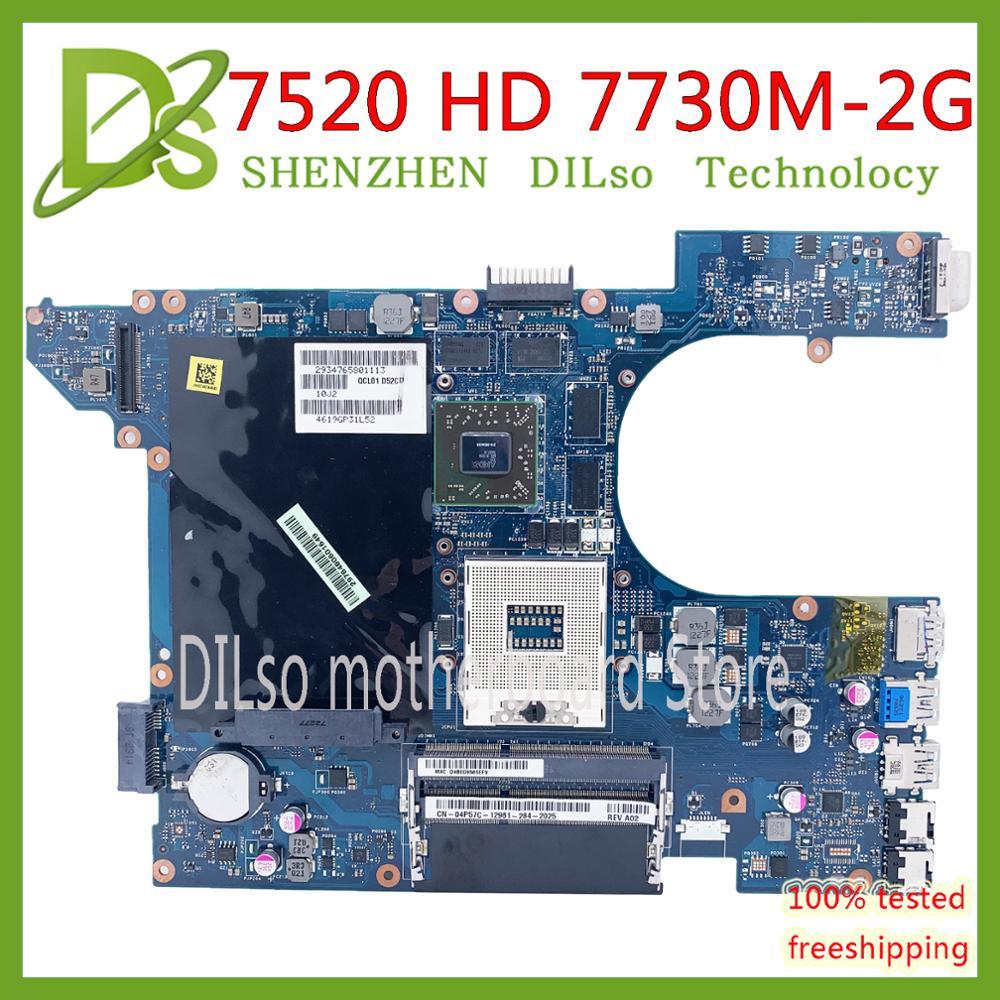 Kefu qcl00 LA-8241P 7520 placa-mãe para dell inspiron 15r 5520 7520 portátil placa-mãe amd hd 7300 2 gb original 100% testado