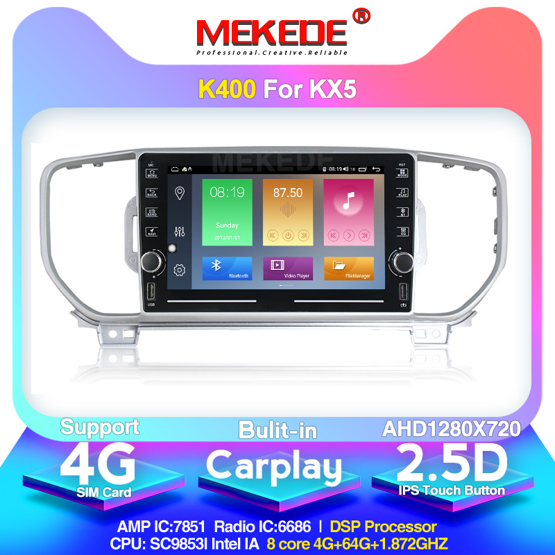 MEKEDE Android 10 K400 have double side band knob For Kia KIA KX5 Sportage 2016 2017 wifi FM 4G sim card navigation image