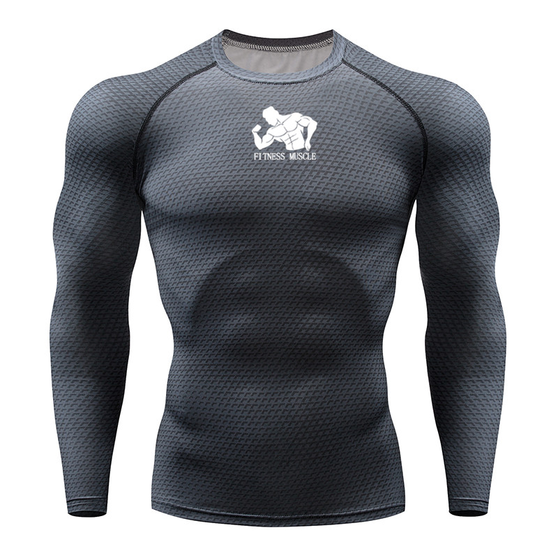 Running Men Tshirt 3D Print Fitness Gym MMA Rashguard T-Shirt Brand Bodybuilding Workout Shirts Long Sleeve Running Tops