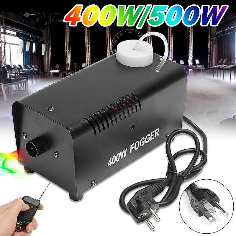 400W Fog Smoke Mist Machine  Effect Disco DJ Party Christmas With Remote Control