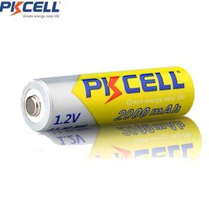 Image 2 - 8 ピース/ロットpkcell aa電池ニッケル水素 2A 2000 2600mahの 1.2v単三充電式バッテリーaa/aaaニッケル水素バッテリー充電器