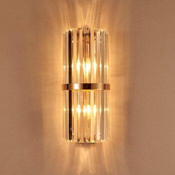 Роскошный хрустальный настенный светильник, бра, освещение AC110V 220V, Аппликации, светильники, murales, настенные светильники для спальни, быстрая...