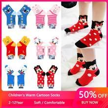 2-12year alta qualidade jacquard mickey minnie dos desenhos animados urso quente algodão crianças da menina do bebê meias criança menino crianças meias