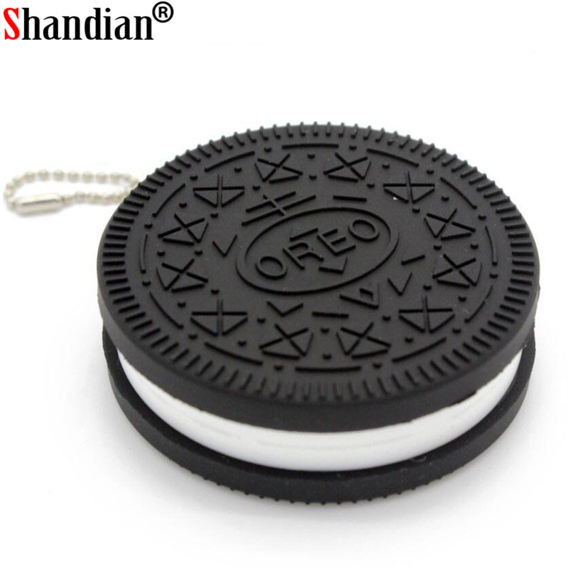 SHANDDIAN Biscuit Shape USB Flash Drive Candy Pendrive Little Mini Funny 4GB/8GB/16GB/32GB/64GB Cookie Usb Disk Free Shipping