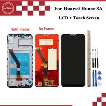 Ocolor para huawei honor 8a jogo honra 8a display lcd e tela de toque 6.09 polegada acessórios do telefone para huawei honor 8a