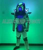 LED robot Costume /LED Clothing suits/ LED Robot suits/ white, golden light robot