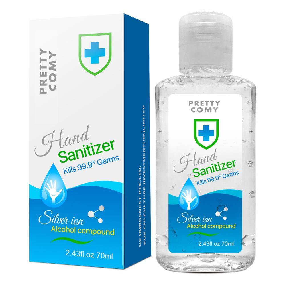 70ml Handgel 75% Ethanol Kids Adults Anti Bacterial Disposable Hand Sanitizer Hand Disinfection Gel