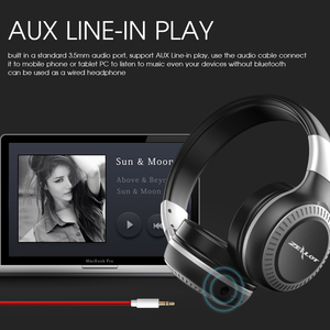 Image 5 - ZEALOT B19 Wireless Headset Bluetooth Headphone Stereo Bass Earphone Support Micro SD Card AUX Radio Microphone