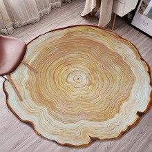 Cilected круглый деревянный Ковер 3D печать гостиная спальня деревянный ворс годовой кольцевой коврик кухня ванная комната Нескользящие водонепроницаемые коврики