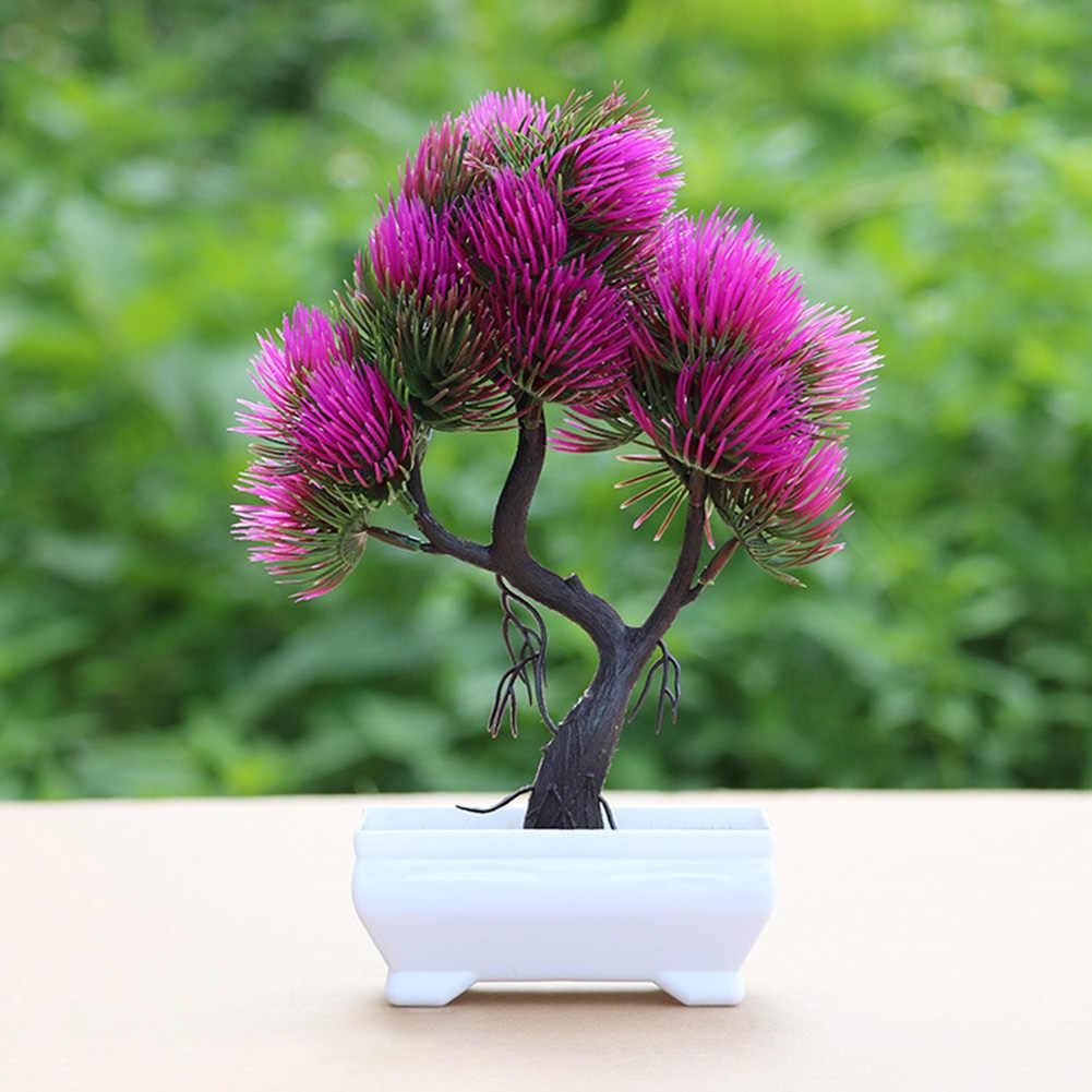 صنوبر اصطناعي شجرة النبات بوعاء بونساي حفل زفاف أثاث سطح المكتب ديكور