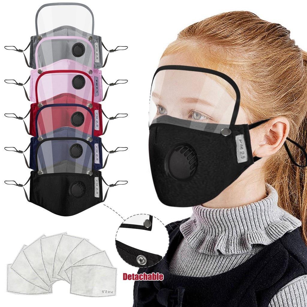 Маска для лица для детей, моющаяся многоразовая маска для лица с фильтром и съемным щитом для глаз, дышащие маски для рта, cubrebocas # jew|Женские маски|   | АлиЭкспресс