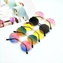Gafas de sol con montura de Metal para mujer, nuevas gafas de sol con gradiente de alta calidad, con lente redondo Irregular, para conducir