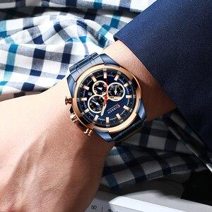Image 5 - CURREN موضة ساعات الفولاذ عادية للرجال كوارتز ساعة اليد كرونوغراف ساعة رياضية مؤشرات مضيئة ساعة الذكور