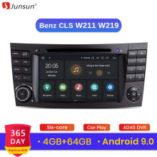 Junsun Android 9.0 DSP 4G + W211 E300 64G para Mercedes Benz-classe CLS/W219 reprodutor multimídia carro Rádio GPS DVD FM RDS carplay(China)