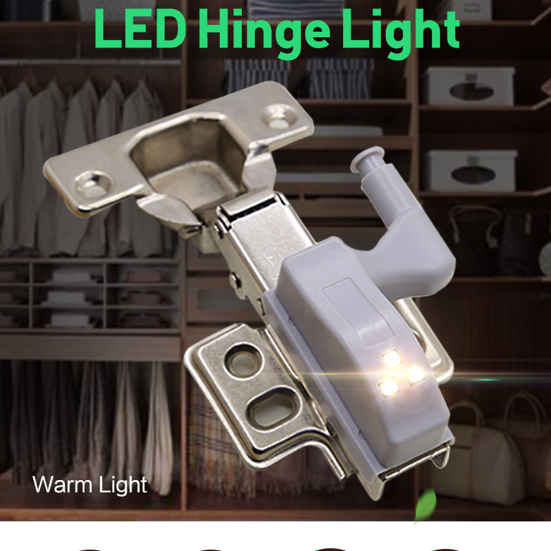 5pcs LED Under Cabinet Light Universal Inner Hinge Lamp Wardrobe Light Sensor For Cupboard Closet Kitchen Bedroom