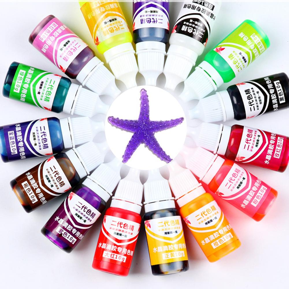 1pc Epoxy UV Resin Colorant Jewelry Liquid Pigment Bath Bomb Soap Dye 15 Colors DIY Jewelry Tools