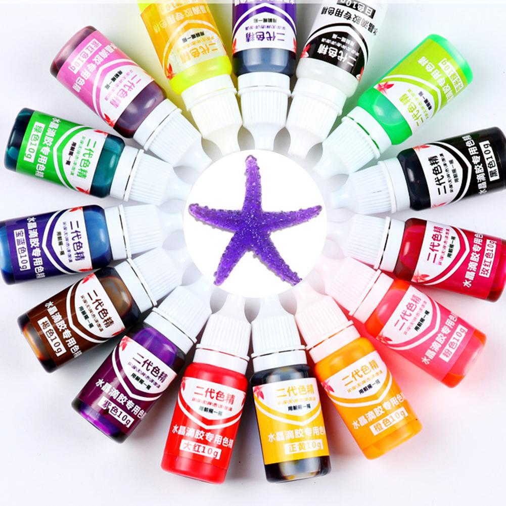 1pc Epoxy UV Resin Colorant Jewelry Liquid Pigment Bath Bomb Soap Dye 15 Colors DIY Jewelry Tools