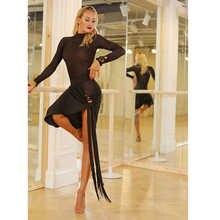 New Latin Dance Skirt Women Sexy Tassel Fringe Skirts Latin Samba Salsa Competition Dress Performance Dancing Clothes DQS3269