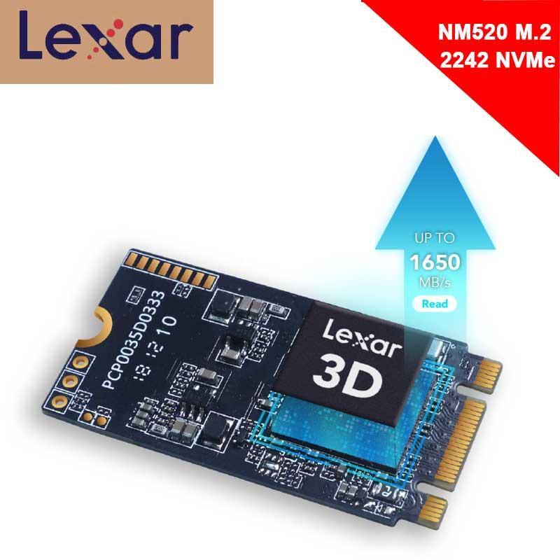 Lexar NVMe SSD M2 2242 512GB M.2 disque dur SSD HDD HD SSD M.2 2242 Nvme 128GB 256GB disque dur pour ordinateur portable PC portable NM520 PCIe
