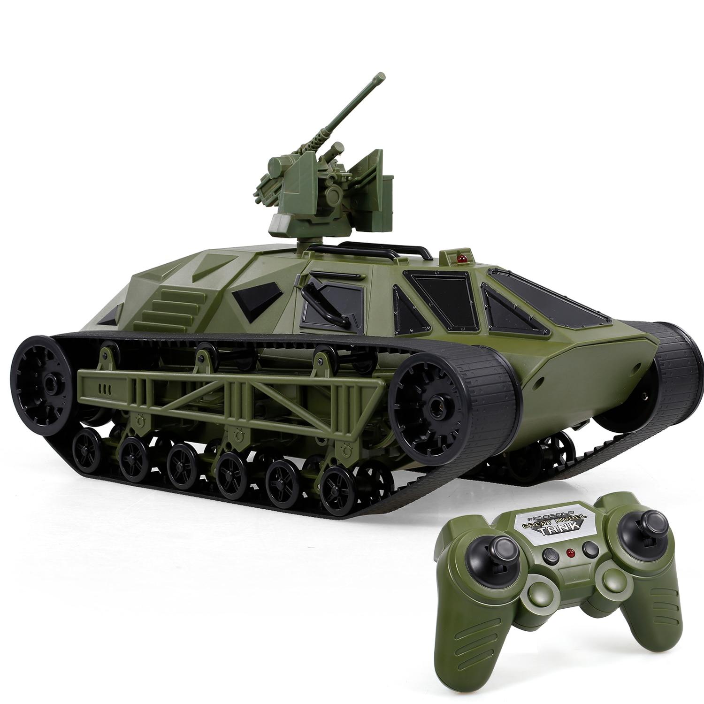 Remote-Control Tank-Vehicle Battle-Tank Tank-2.4g FC166 RC Toy for Boys Kids Flip-Decoration