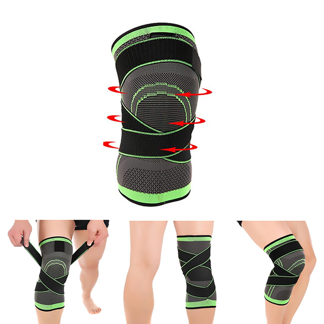 1PC Kneepad Elastic Bandage Pressurized Knee Pads Knee Support Protector for Fitness sport running Arthritis muscle joint Brace 4