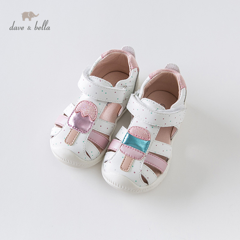 DB13731 Dave Bella Summer Baby Girl Sandals New Born Infant Shoes Girl Pink White Sandals Casual Shoes
