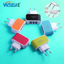 5V/2A Mobile Phone US/EU plug USB Charger Quick Charge 3 ports USB Charger Travel Wall Fast Charging Charger Universal Charger usb charger eu us plug 3 ports quick charge fast charging mobile phone charger for iphone x samsung xiaomi huawei travel charger