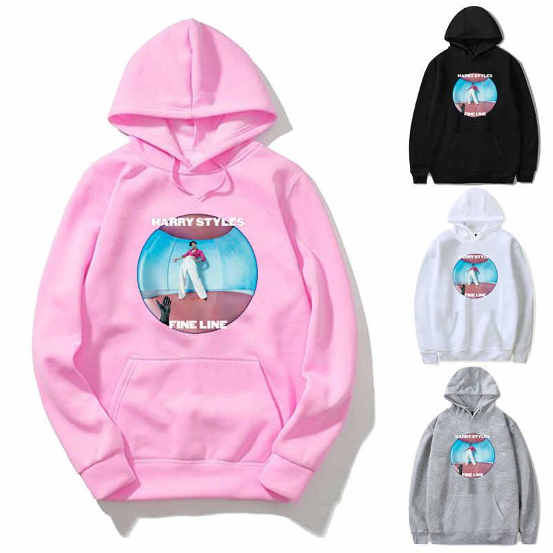 Streetwear Hoodies Sweatshirt Vrouwen Harry Stijlen Fijne Lijn Hoodie Roze Kleding Mannen Polerone Winter Kleding Vrouwen Harajuku Overhemd